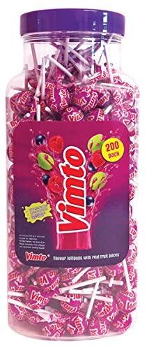 Vimto lollipop