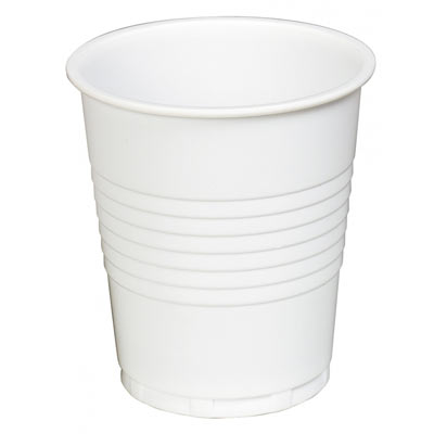 7oz Plastic White Cups  100 x 30