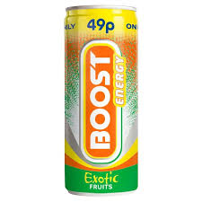 Boost Energy Exotic Fruits 250ml x 24 PM
