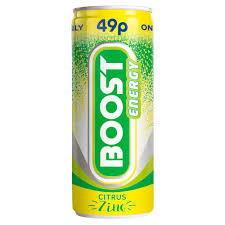 Boost Energy Citrus Zinc 250ml x 24 PM