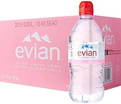 evian water 75cl x 12