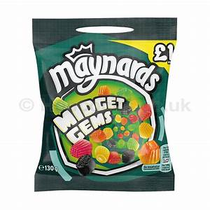 Maynards Bassetts Midget Gems £1.00 bags